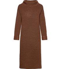 dresses flat knitted knälång klänning brun esprit casual
