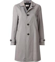comme des garçons pre-owned micro check straight coat - grey