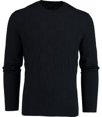 armani exchange donkerblauwe gebreide pullover 3hzm1g.zml5z/1510