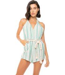 jumpsuit light blue stripes