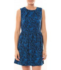 korte jurk vero moda robe noel sl mini dress mix wall 10087646 bleu