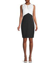 ted baker london women's colorblock mini sheath dress - black - size 3 (8)