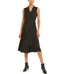 marella striped a-line sleeveless dress