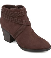 journee collection women's senica bootie women's shoes