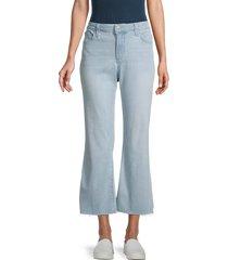 joe's jeans women's mid-rise cropped bootcut jeans - blue - size 23 (00)