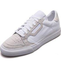 tenis lifestyle blanco-gris adidas originals continental vulc