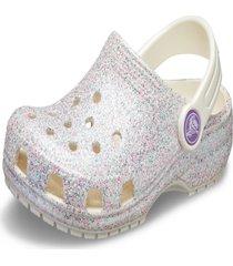 crocs classic glitter clog multicolorido - kanui