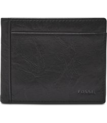 fossil men's leather neel bifold wallet