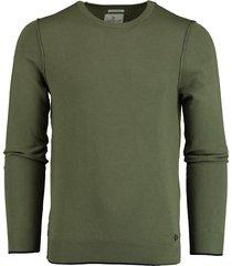 bos bright blue pullover groen ronde hals tr176/verde