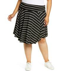 plus size women's bobeau circle skirt, size 2x - black