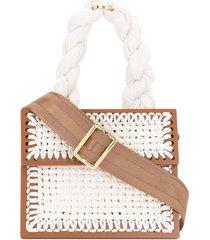 0711 white small copacabana purse - brown