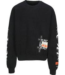 heron preston hp brushed crewneck sweatshirt