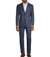 hickey freeman men's milburn ii regular-fit wool suit - blue - size 46 l