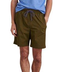 alex mill tech hybrid drawstring shorts, size medium in olive at nordstrom