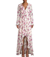 thea floral high-low gown