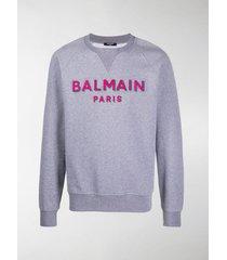 balmain 3d logo sweatshirt