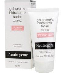 gel creme hidratante facial neutrogena oil free pele mista a oleosa 50ml