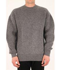 bottega veneta crewneck gray sweater