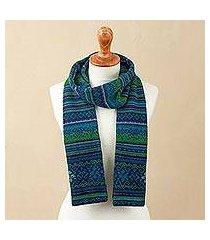 100% alpaca scarf, 'blue turquoise' (peru)