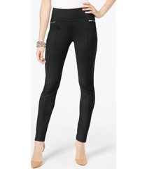 i.n.c. curvy-fit skinny moto pants, created for macy's