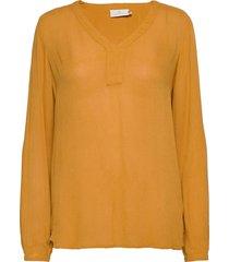 amber l/s blouse- min 2 blus långärmad gul kaffe