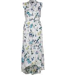print soft satin maxi dress maxiklänning festklänning vit banana republic