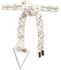 iro oversized knot rope belt - white
