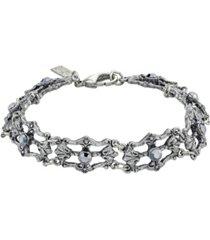 downton abbey crystal link bracelet