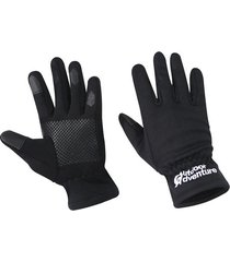 guantes negros outdoor adventure gloves tactil