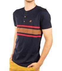 camiseta rayas estampadas azul navy ref. 108021119