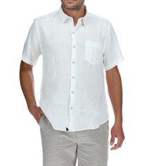 camisa lino hombre linenshort blanco rockford