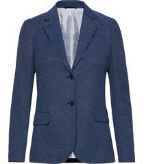 d1. basket weave stretch blazer blazer kavaj blå gant