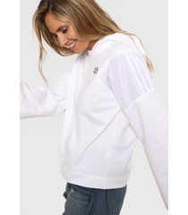 buzo blanco adidas originals hood