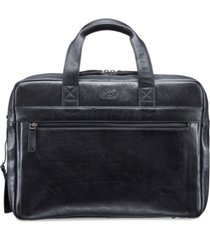mancini vanizia collection top zippered double compartment laptop and tablet briefcase