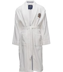 lexington velour robe morgonrock badrock vit lexington home