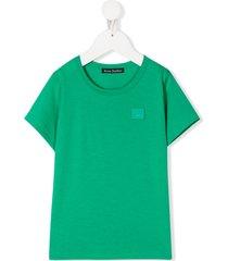 acne studios mini nash face-motif t-shirt - green