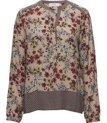 dakota l/s blouse blus långärmad rosa cream