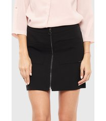 falda ash corta negro - calce regular