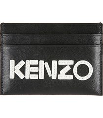 kenzo logo embroidered card holder