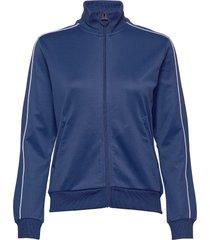 w flow zip jacket sweat-shirt trui blauw peak performance