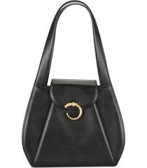 cartier pre-owned panther shoulder bag - black