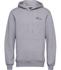 new standard hoodie logo hoodie trui grijs mads nørgaard