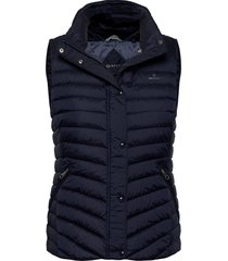 light down gilet vests padded vests blauw gant