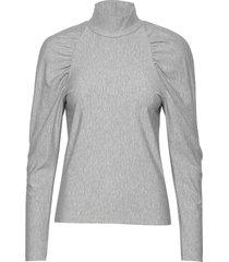 rifagz turtleneck blouse lange mouwen grijs gestuz