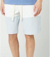 jw anderson men's panelled rugby shorts - glacier blue - l
