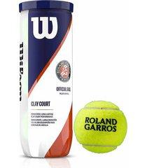 3 clay court pelotas de tenis wilson tns roland garros oficial