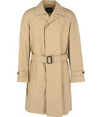 belted concealed button trench coat