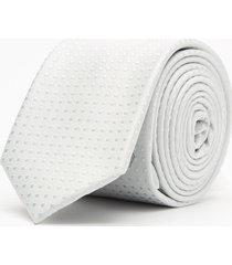 krawat gładki biały 101