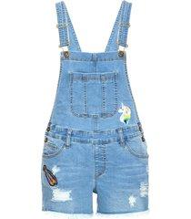salopette di jeans corta (blu) - rainbow