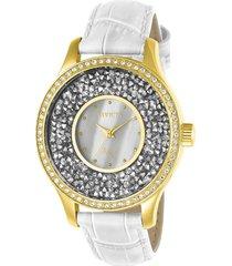 reloj invicta 24589 blanco cuero dama
